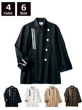 CK-BW6501 コックコート(長袖) ホワイト 白