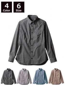 BW2504 シャツ(長袖) 拡大画像ブラウン