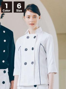 CK-BW8001  ジャケット(七分袖) コック ホワイト 白