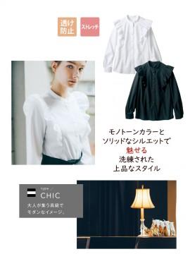 BW2001 ブラウス(長袖) バックスタイル
