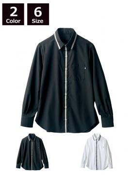 BW2502 シャツ(長袖) 拡大画像ブラック