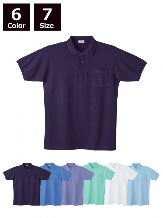 製品制電半袖ポロシャツ