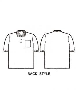 JC-24444 製品制電半袖ポロシャツ バックスタイル