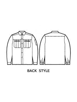 JC-30204 長袖シャツ バックスタイル