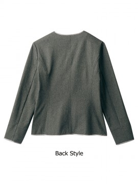 CKBR1102 ニットジャケット(長袖) バックスタイル