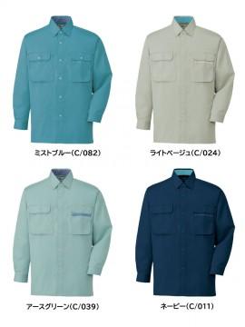 JC-44104 製品制電長袖シャツ カラー一覧