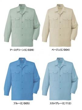 JC-44324 エコ製品制電長袖オープンシャツ カラー一覧