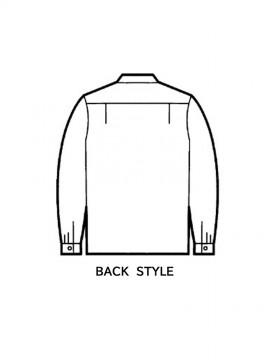 JC-44324 エコ製品制電長袖オープンシャツ バックスタイル