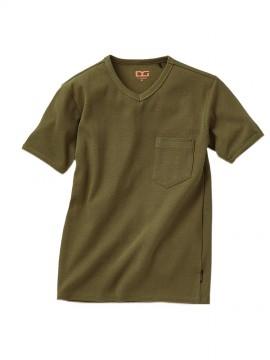 リブニット半袖Tシャツ