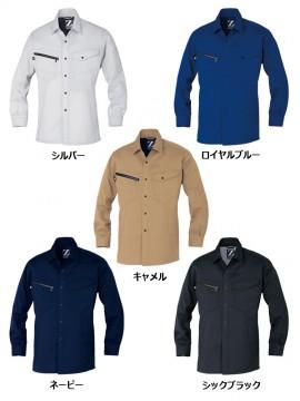JC-75304 製品制電長袖シャツ カラー一覧