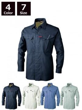 XB7563 長袖シャツ 全体図