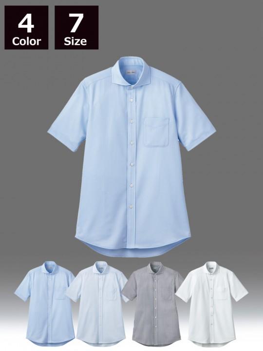 BM-FB4560U ワイドカラーニット半袖シャツ