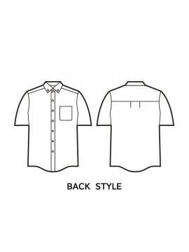 JC-43614 半袖シャツ バックスタイル