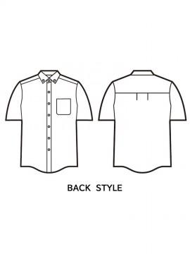 JC-43634 半袖シャツ バックスタイル