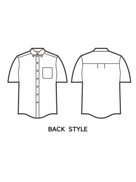 JC43654 形態安定半袖シャツ バックスタイル