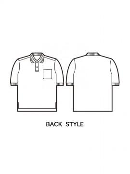 JC-46624 エコ半袖ポロシャツ バックスタイル
