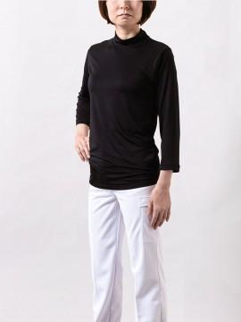 モックネックシャツ(8分袖/男女兼用)