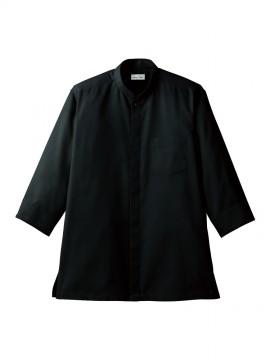BM-FB4556U 吸汗速乾スタンドカラーシャツ ブラック