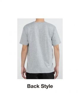 WE-00086-DMT 5.0オンス ベーシックTシャツ バックスタイル
