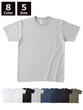 6.2oz オープンエンド マックスウェイト バインダーネックポケットTシャツ