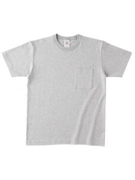 OE1119 オープンエンド マックスウェイトバインダーネック ポケットTシャツ 拡大