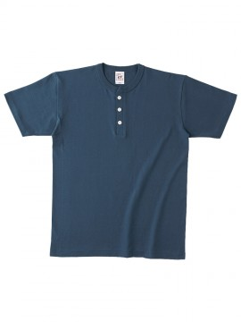 OE1120 オープンエンド マックスウェイトヘンリーネックTシャツ 拡大