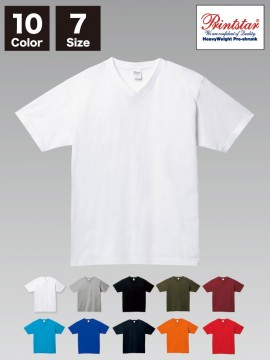 WE-00108-VCT 5.6オンス ヘビーウェイト VネックTシャツ
