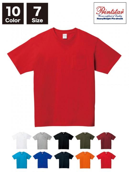 WE-00109-PCT 5.6オンス ヘビーウェイト ポケットTシャツ