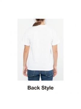 WE-00109-PCT 5.6オンス ヘビーウェイト ポケットTシャツ バックスタイル