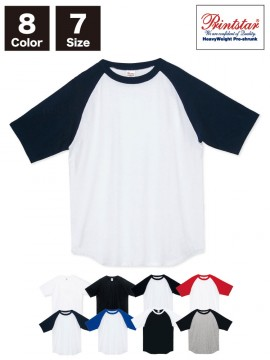 WE-00106-CRT 5.6オンス ヘビーウェイトラグランTシャツ