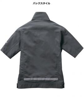 BUR9096 半袖シャツ(ユニセックス) バックスタイル