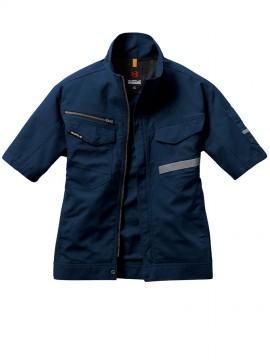 BUR9096 半袖シャツ(ユニセックス) ネイビー