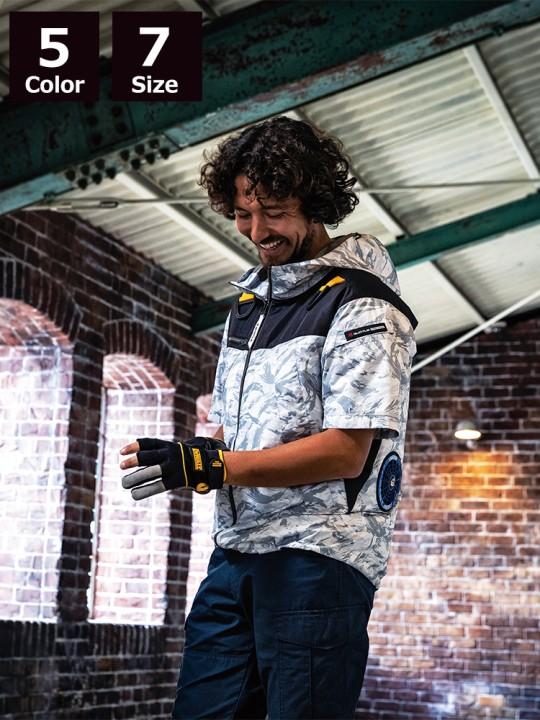 エアークラフトパーカー半袖ジャケット(ユニセックス)