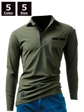225 長袖アイスポロシャツ(ユニセックス)