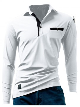 225 長袖アイスポロシャツ(ユニセックス) ホワイト