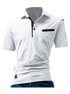 227 半袖アイスポロシャツ(ユニセックス)ホワイト
