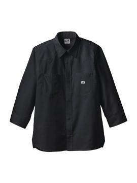 BM-LCS49002 ユニセックス七分袖シャツ 拡大画像 ブラック