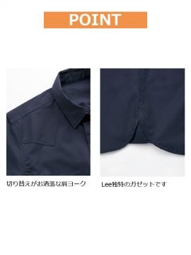 BM-LCS49002 ユニセックス七分袖シャツ 肩ヨーク ガゼット