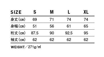 996M ジャージーズNUBLEND P/Oパーカ サイズ表
