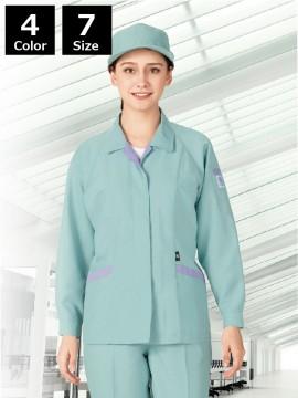 エコ低発塵製品制電長袖スモック