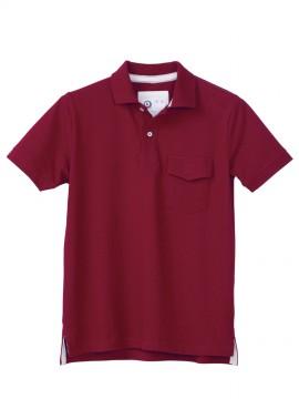 KU-26447 半袖ポロシャツ(脇スリット) 拡大画像