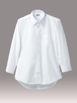 KU-2500 長袖カッターシャツ(白) 拡大画像