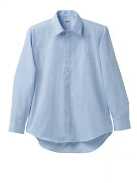 KU-2501 長袖カッターシャツ(ブルー) 拡大画像