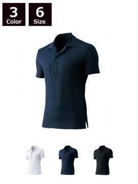 半袖オープンシャツ(脇スリット)