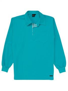 JC-85204 吸汗速乾長袖ポロシャツ