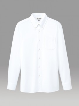 ARB-EP7919 ニットシャツボタンダウン(男女兼用・長袖)  ホワイト