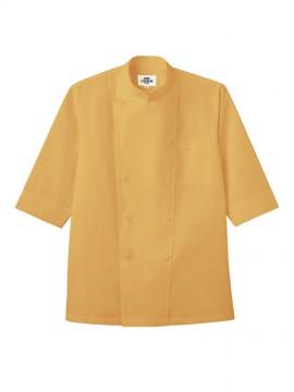 ARB-AS6021 オレンジコックシャツ モデル着用画像