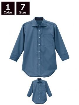 BS-24313 ワイドカラーシャツ 商品一覧 ブルー