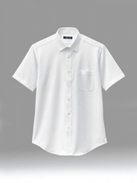 BS-23116 ニットシャツ 拡大画像 白