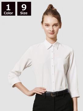 BS-24244 ニットシャツ モデル着用 白